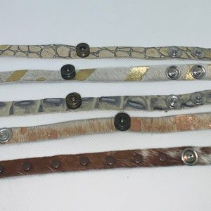 Jewelry - 🎁🎁STOCKINGS! Real Leather Hide Bracelets